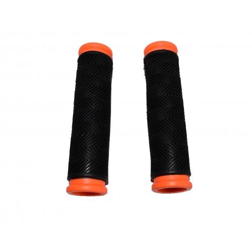Αντιολισθητικές χειρολαβές Ποδηλάτου σε Μαύρο Πορτοκαλί