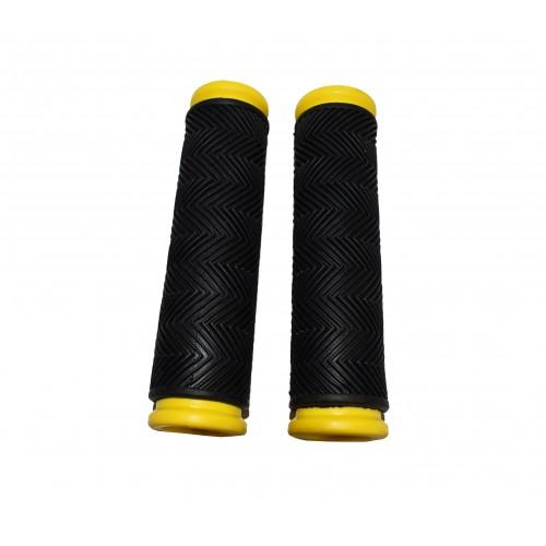 Αντιολισθητικές χειρολαβές Ποδηλάτου σε Μαύρο Κίτρινο