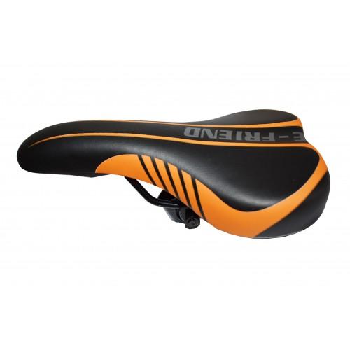 Σέλα Ποδηλάτου E-FRIEND σε Μαύρο Πορτοκαλί