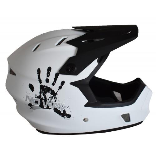 Full Face Κράνος ποδηλάτου BMX Freeride - Downhill ΜΟΟΝ matt White
