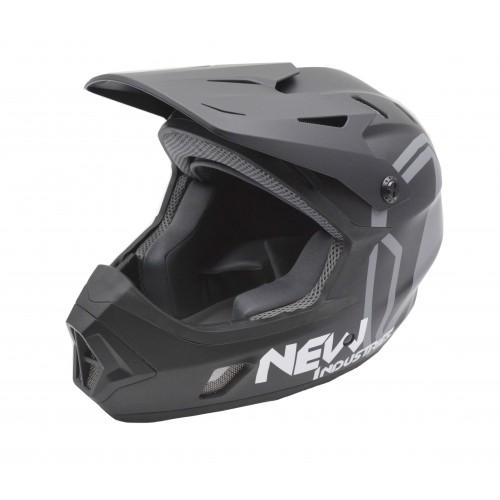 Full Face Κράνος ποδηλάτου BMX Freeride - Downhill ΜΟΟΝ matt Black