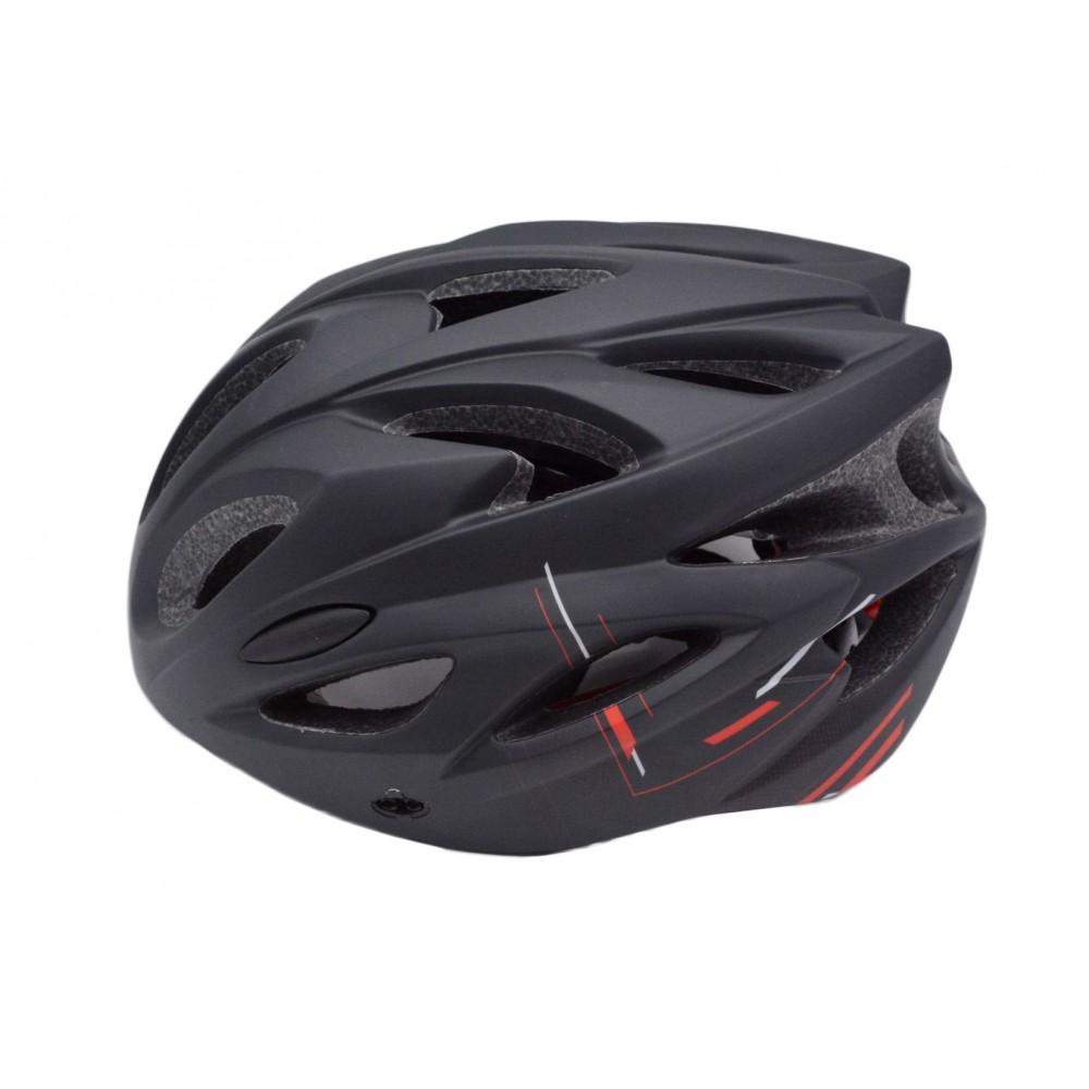 Κράνος Ποδηλάτου Road σε Μαύρο Κόκκινο Χρώμα