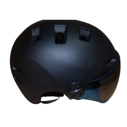 Κράνος με προστατευτικά γυαλιά και αποσπώμενο γείσο για ηλεκτροκίνητο Ποδήλατο Πατίνι Scooter Ski Snowboard Sledge  matt Black