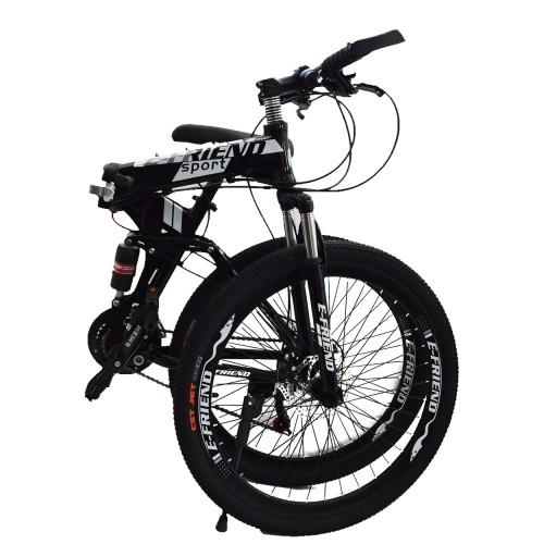 Ποδήλατο Αλουμινίου Σπαστό SPORT E-FRIEND SHIMANO Ταχύτητες 26 ίντσες σε Μαύρο - Λευκό