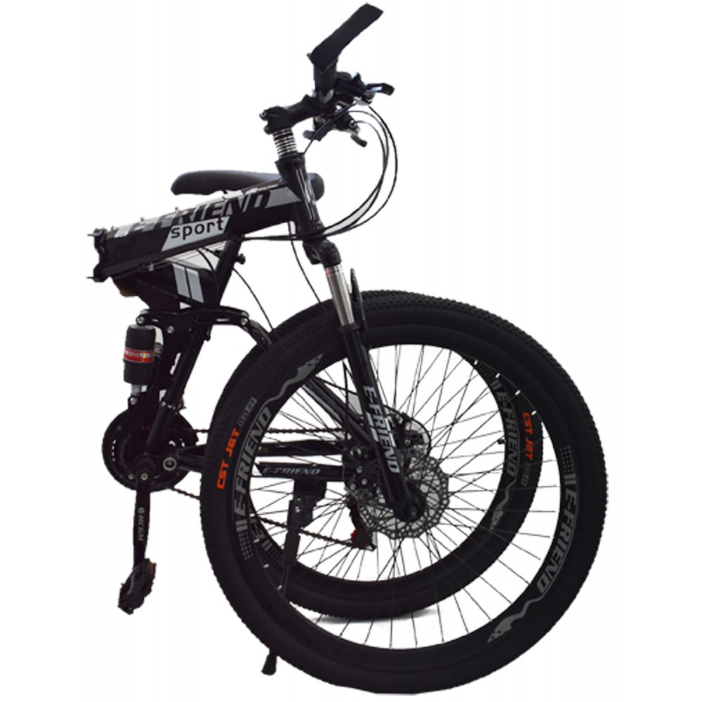 Ποδήλατο Σπαστό SPORT E-FRIEND SHIMANO Ταχύτητες 26 ίντσες σε Μαύρο - Ασημί