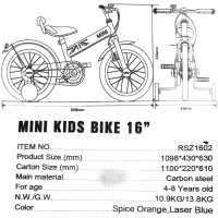 Παιδικό Ποδήλατο MINI Cooper Licensed 16 ίντσες σε Τυρκουαζ