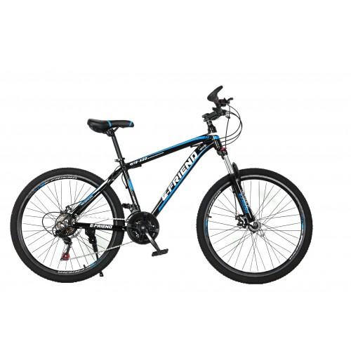 Ποδήλατο Βουνού Αλουμινίου E-FRIEND 27.5 ίντσες σε Μαύρο Μπλε
