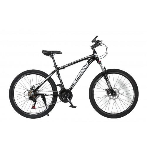 Ποδήλατο Βουνού Αλουμινίου E-FRIEND 27.5 ίντσες σε Μαύρο γκρι