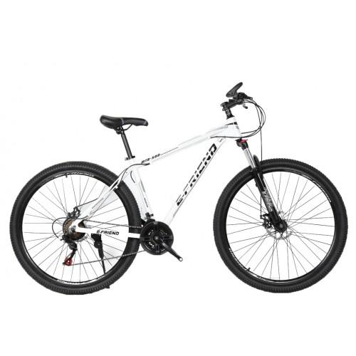 Ποδήλατο Βουνού Αλουμινίου E-FRIEND 29 ίντσες σε Λευκό