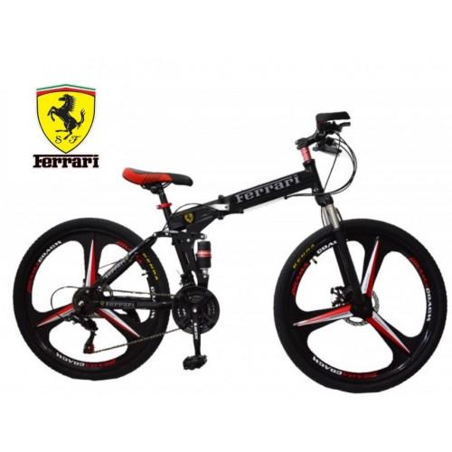 Ποδήλατο Σπαστό Licensed Ferrari 26 ίντσες σε Μαύρο Κόκκινο