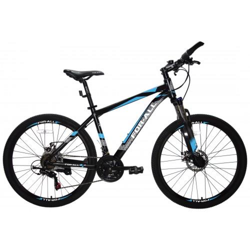 Ποδήλατο Αλουμινίου Mountain 26 ίντσες  με SHIMANO ταχύτητες Μαύρο Μπλε