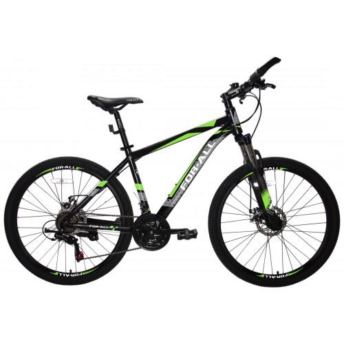 Ποδήλατο Αλουμινίου Mountain 26 ίντσες  με SHIMANO ταχύτητες Μαύρο Πράσινο