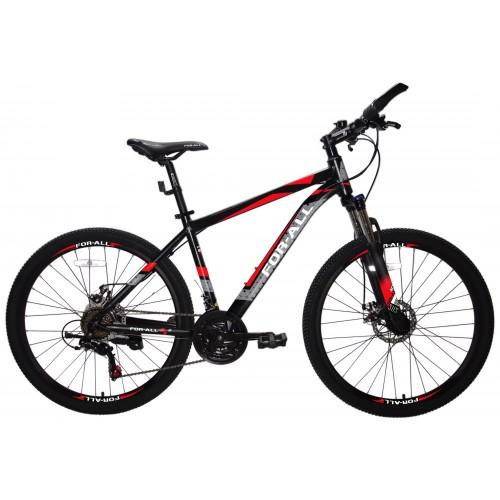 Ποδήλατο Αλουμινίου Mountain 26 ίντσες  με SHIMANO ταχύτητες Μαύρο Κόκκινο