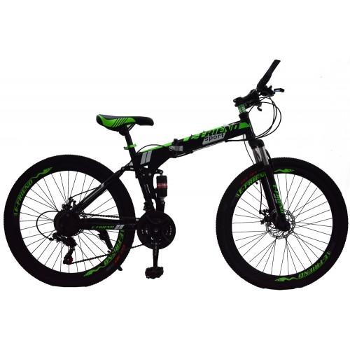 Ποδήλατο Σπαστό SPORT E-FRIEND SHIMANO Ταχύτητες 26 ίντσες σε Μαύρο - Πράσινο