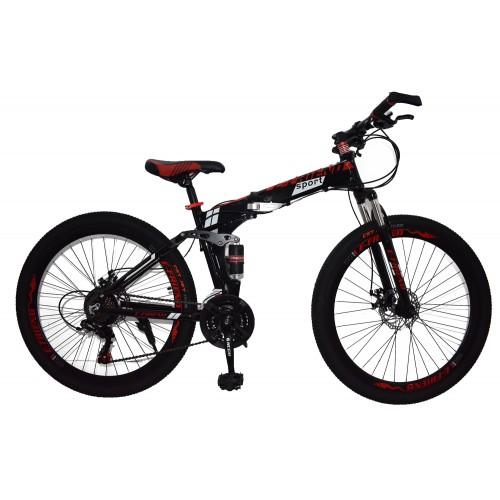 Ποδήλατο Σπαστό SPORT E-FRIEND SHIMANO Ταχύτητες 26 ίντσες σε Μαύρο - Κόκκινο