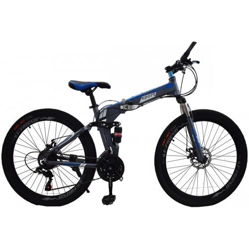 Ποδήλατο Σπαστό SPORT E-FRIEND SHIMANO Ταχύτητες 26 ίντσες σε Γκρι - Μπλε