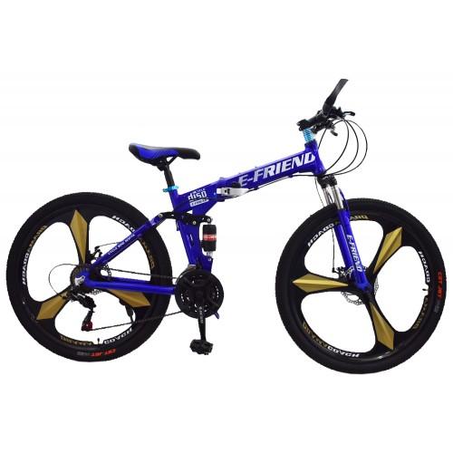 Ποδήλατο Σπαστό SPORT E-FRIEND με Χρυσές Ζάντες SHIMANO Ταχύτητες 26 ίντσες σε Μπλε