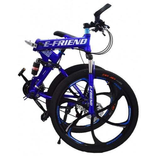 Ποδήλατο Σπαστό SPORT E-FRIEND SHIMANO Ταχύτητες 26 ίντσες σε Μπλε