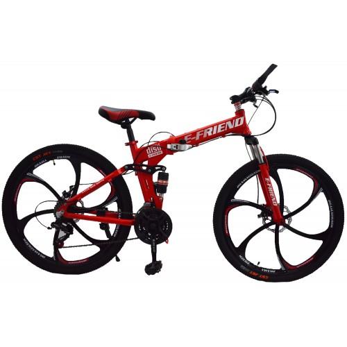 Ποδήλατο Σπαστό SPORT E-FRIEND SHIMANO Ταχύτητες 26 ίντσες σε Κόκκινο