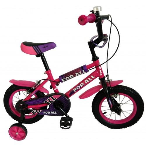 Παιδικό ποδήλατο 12 ίντσες BMX σε Ροζ