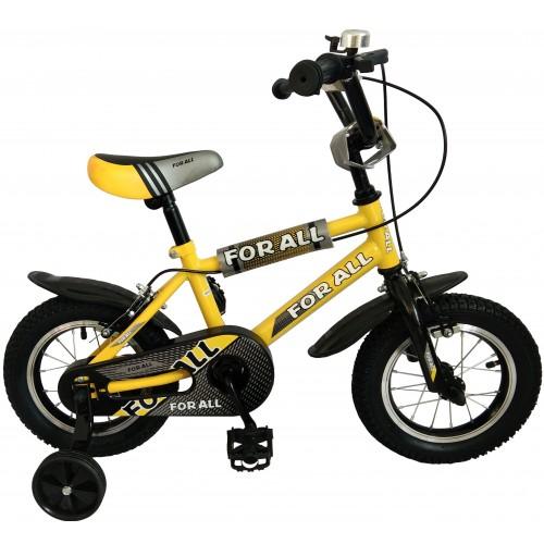 Παιδικό ποδήλατο 12 ίντσες BMX σε Κίτρινο