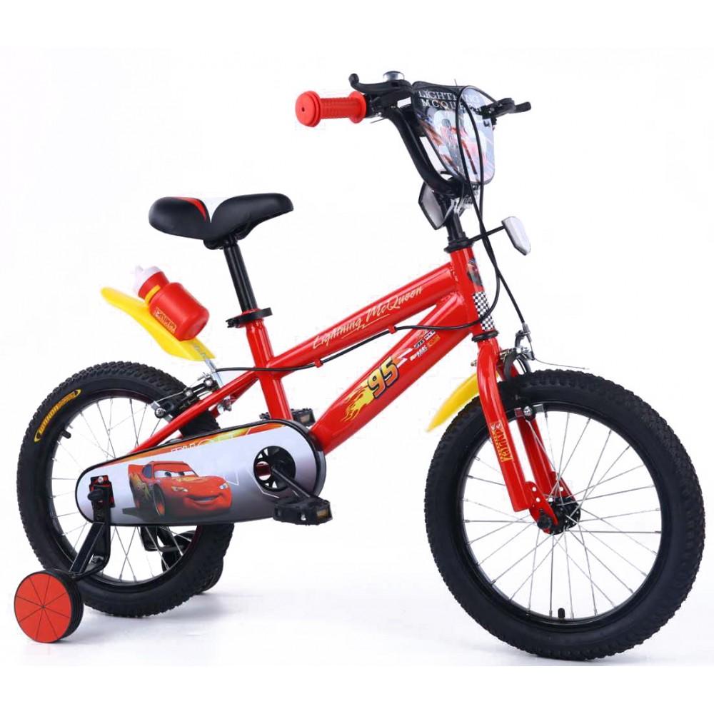 Παιδικό Ποδήλατο Cars Lightning McQueen 16 ίντσες σε Κόκκινο Χρώμα