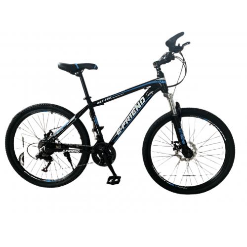 Ποδήλατο Βουνού Αλουμινίου E-FRIEND 26 ίντσες σε Μαύρο - Μπλε