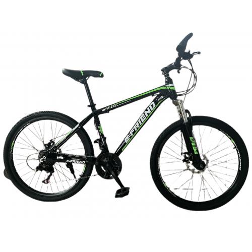 Ποδήλατο Βουνού Αλουμινίου E-FRIEND 26 ίντσες σε Μαύρο - Πράσινο