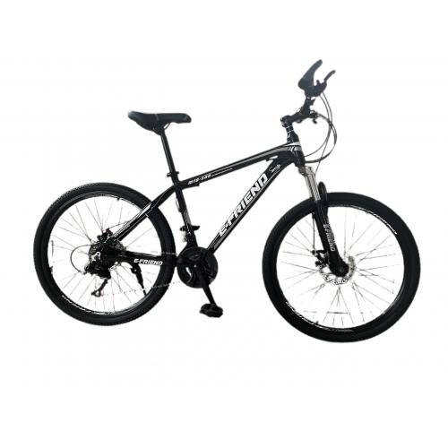 Ποδήλατο Βουνού Αλουμινίου E-FRIEND 26 ίντσες σε Μαύρο - Γκρι