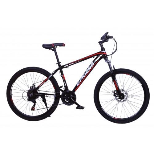 Ποδήλατο Βουνού Αλουμινίου E-FRIEND 26 ίντσες σε Μαύρο - Κόκκινο