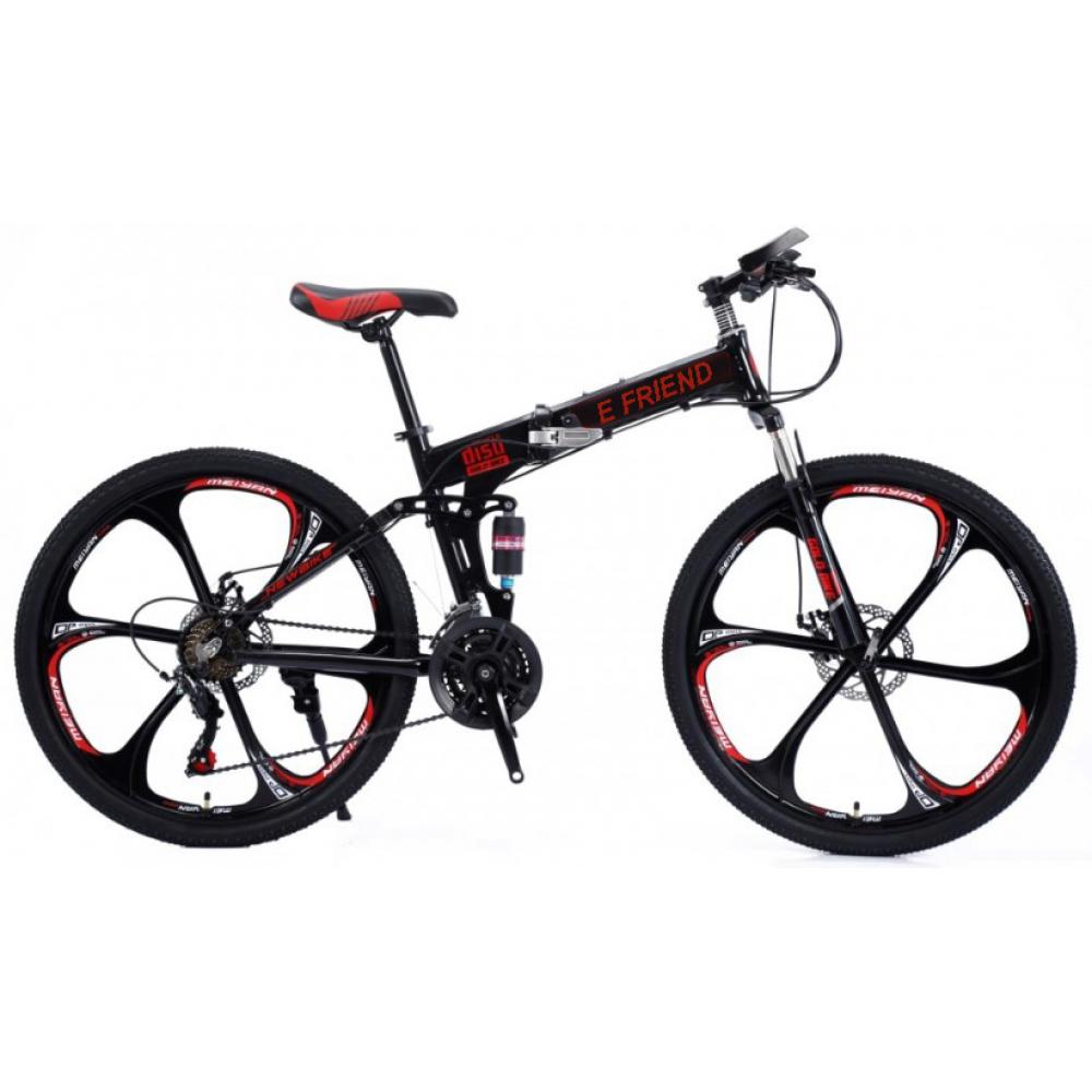 Ποδήλατο Σπαστό SPORT E-FRIEND 26 ίντσες σε Μαύρο Κόκκινο