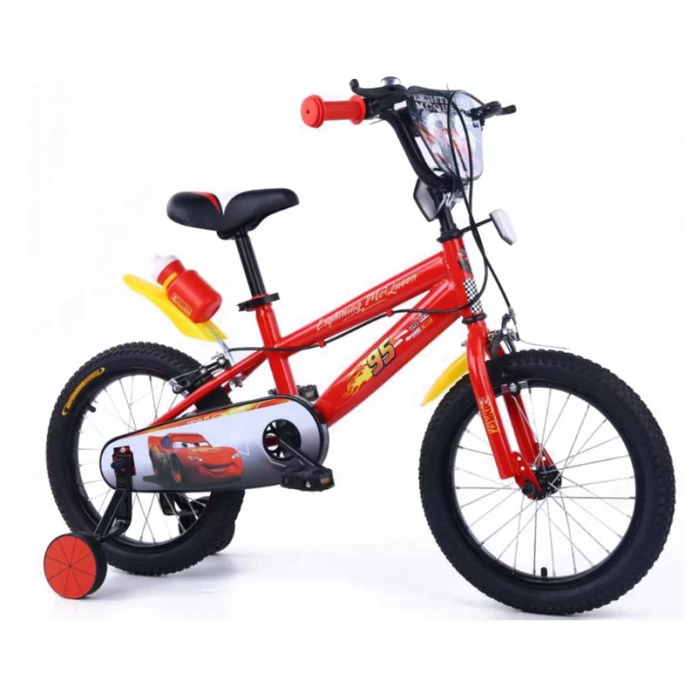 Παιδικό Ποδήλατο Cars Lightning McQueen 12 ίντσες σε Κόκκινο Χρώμα