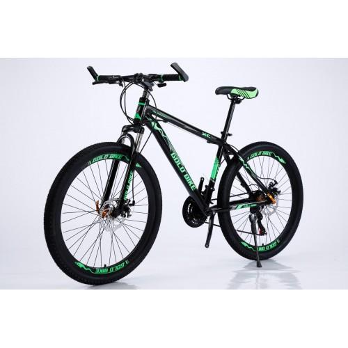 Ποδήλατο Mountain Αλουμινίου Gold Bike XC310 με SHIMANO ταχύτητες 26 ίντσες σε Μαύρο Πράσινο