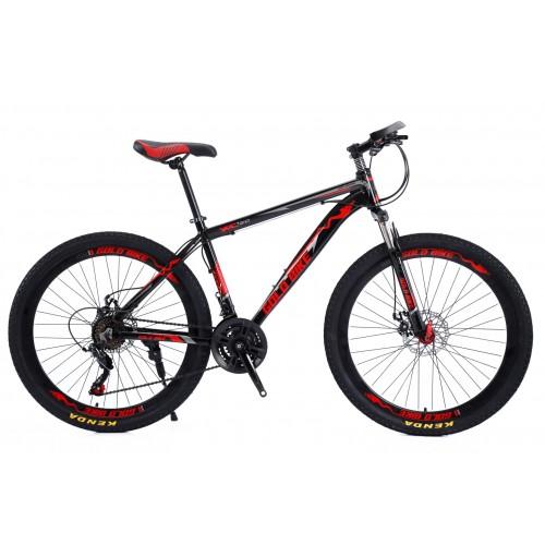 Ποδήλατο Mountain Αλουμινίου Gold Bike XC310 με SHIMANO ταχύτητες 26 ίντσες σε Μαύρο Κόκκινο