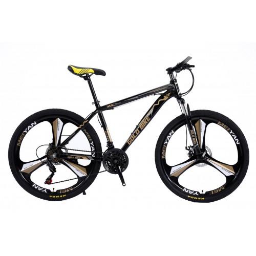 Ποδήλατο Mountain Αλουμινίου Gold Bike XC310 GT με SHIMANO ταχύτητες 26 ίντσες σε Μαύρο Χρυσό