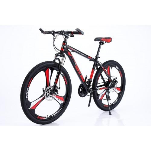 Ποδήλατο Mountain Αλουμινίου Gold Bike XC310 GT με SHIMANO ταχύτητες 26 ίντσες σε Μαύρο Κόκκινο