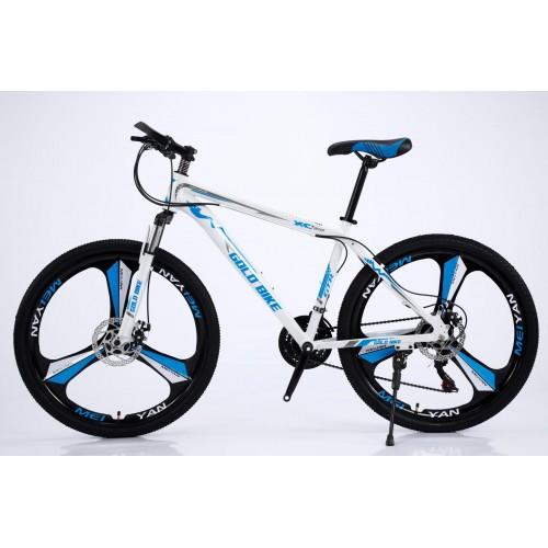 Ποδήλατο Mountain Αλουμινίου Gold Bike XC310 GT με SHIMANO ταχύτητες 26 ίντσες σε Λευκό Μπλε