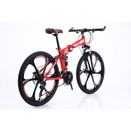 Ποδήλατο Σπαστό Mountain Αλουμινίου Gold Bike New με SHIMANO ταχύτητες 26 ίντσες σε Κόκκινο